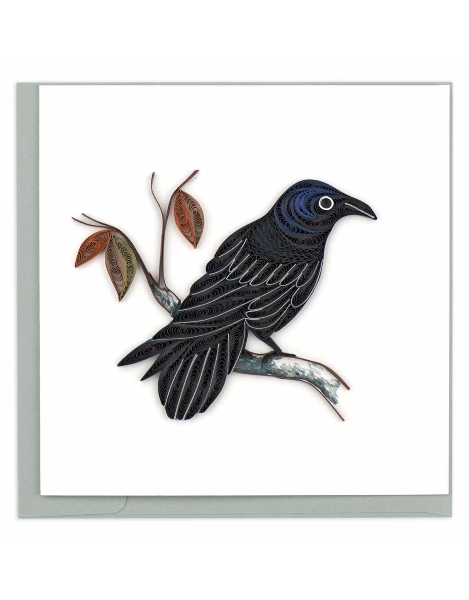 quillingcard Quilled Raven Greeting Card, Vietnam