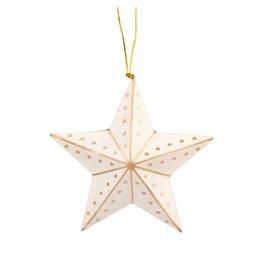 TTV USA Gold & White Star Ornament, Bangladesh