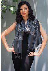 Sevya Sarana Embroidered Wool Scarf, India