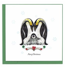 quillingcard Quilled Christmas Penguin Family, Vietnam