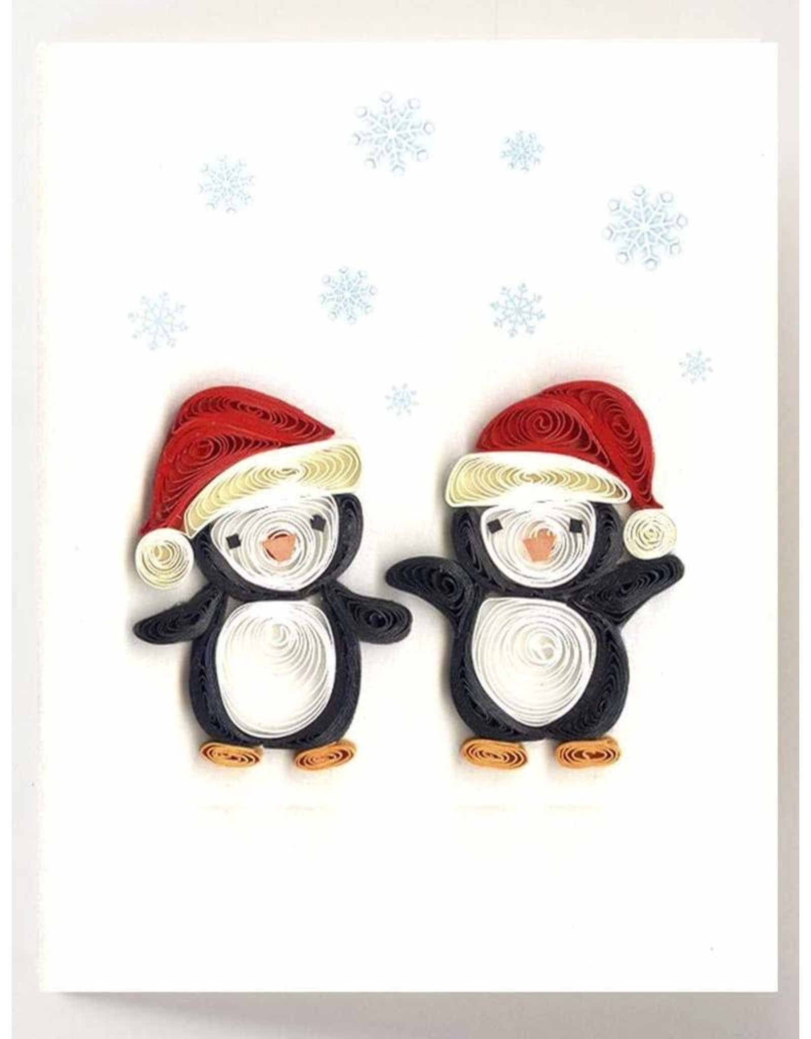 quillingcard Quilled Holiday Penguins Mini Card, Vietnam