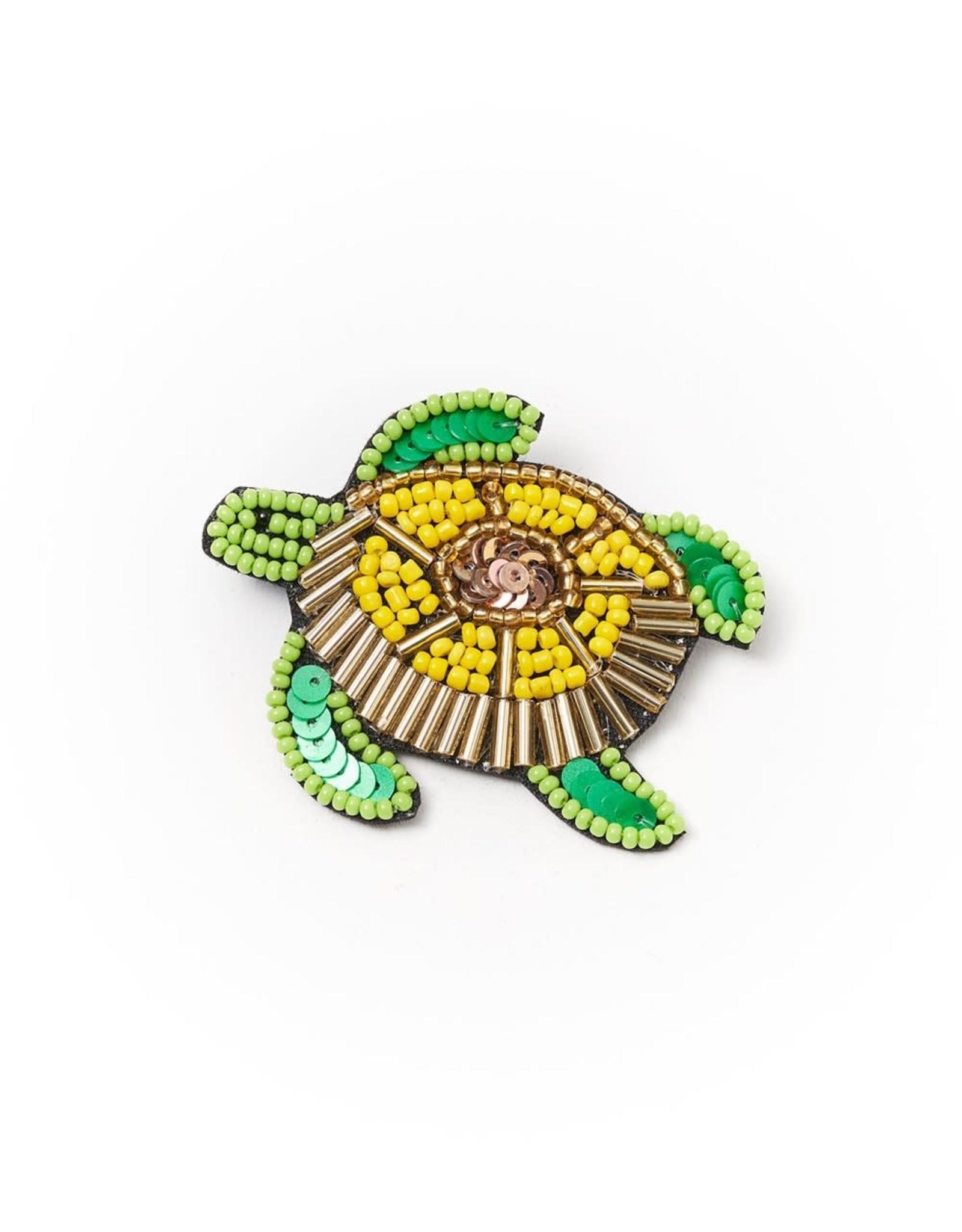 Matr Boomie Bala Mani Turtle Brooch, India