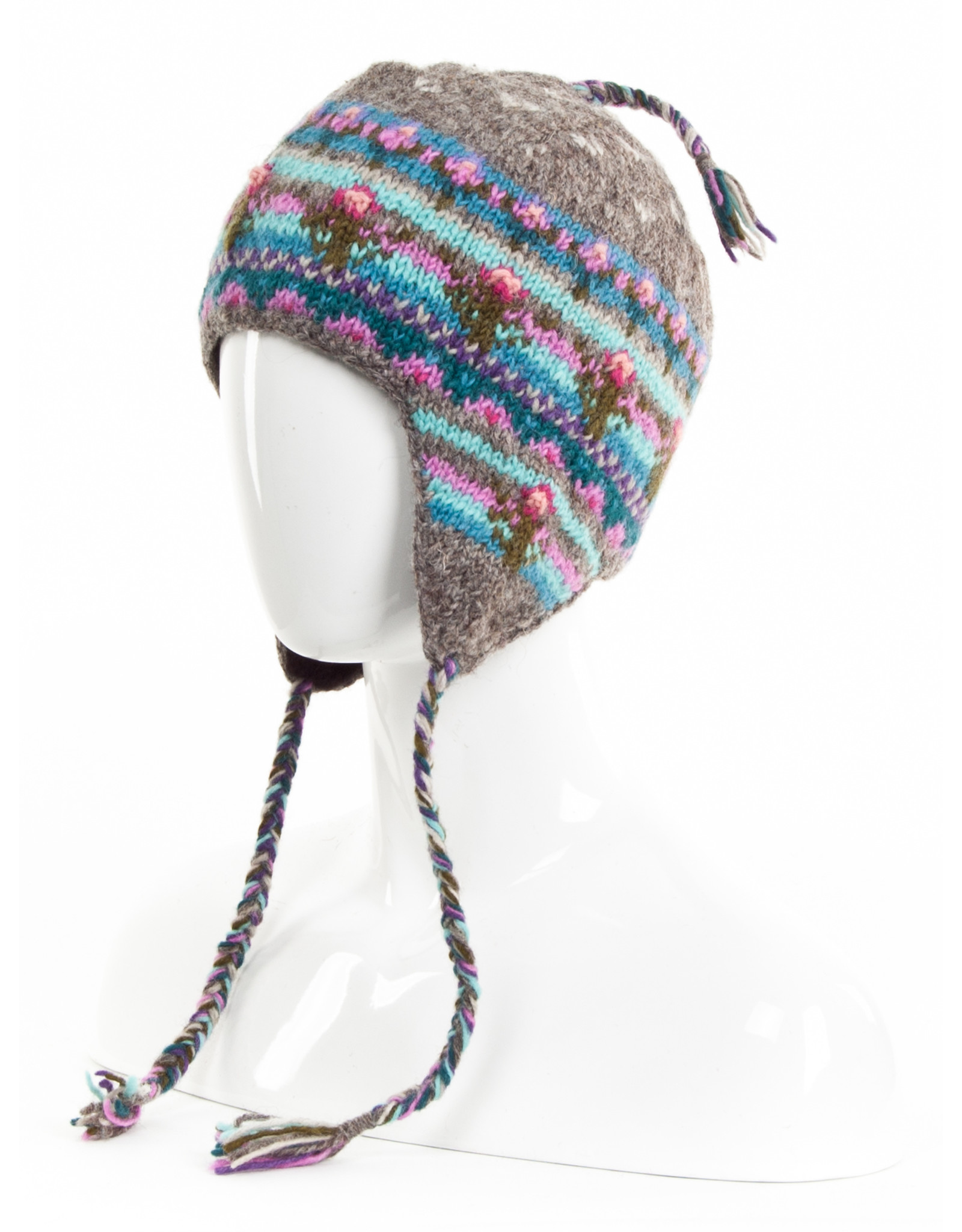 Lost Horizons Galena Knit Earflap hat, Nepal.
