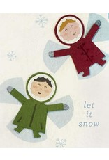 Good Paper Snow Angels Greeting Card, Philippines