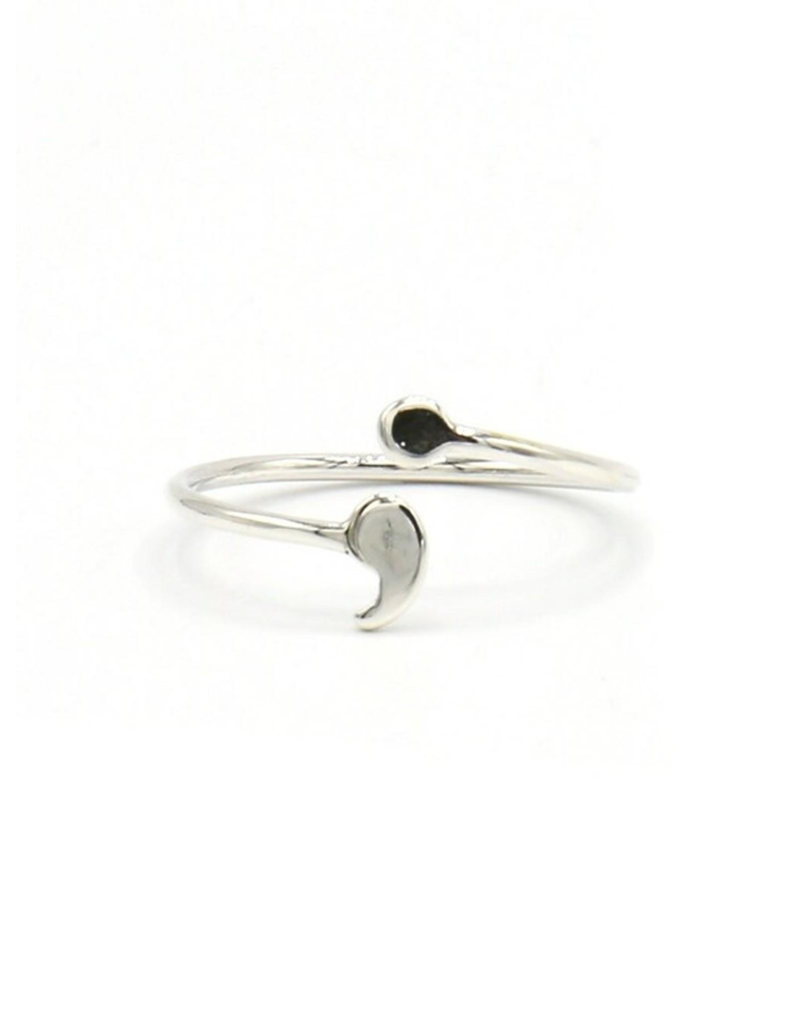Fair Anita Semi-Colon Sterling Silver Ring, Peru