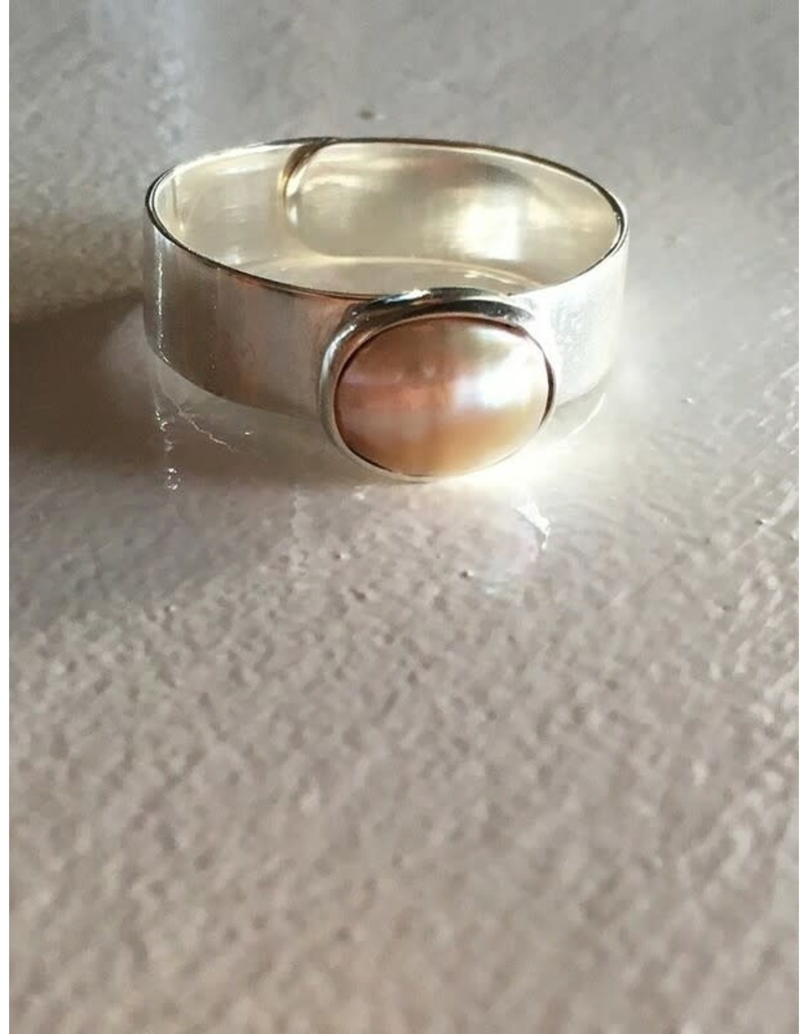 Fair Anita Dolores Freshwater Pearl Sterling Ring, Peru