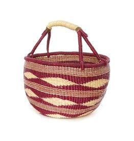 Swahili Wholesale Diamond Handwoven Bolga Basket, Ghana
