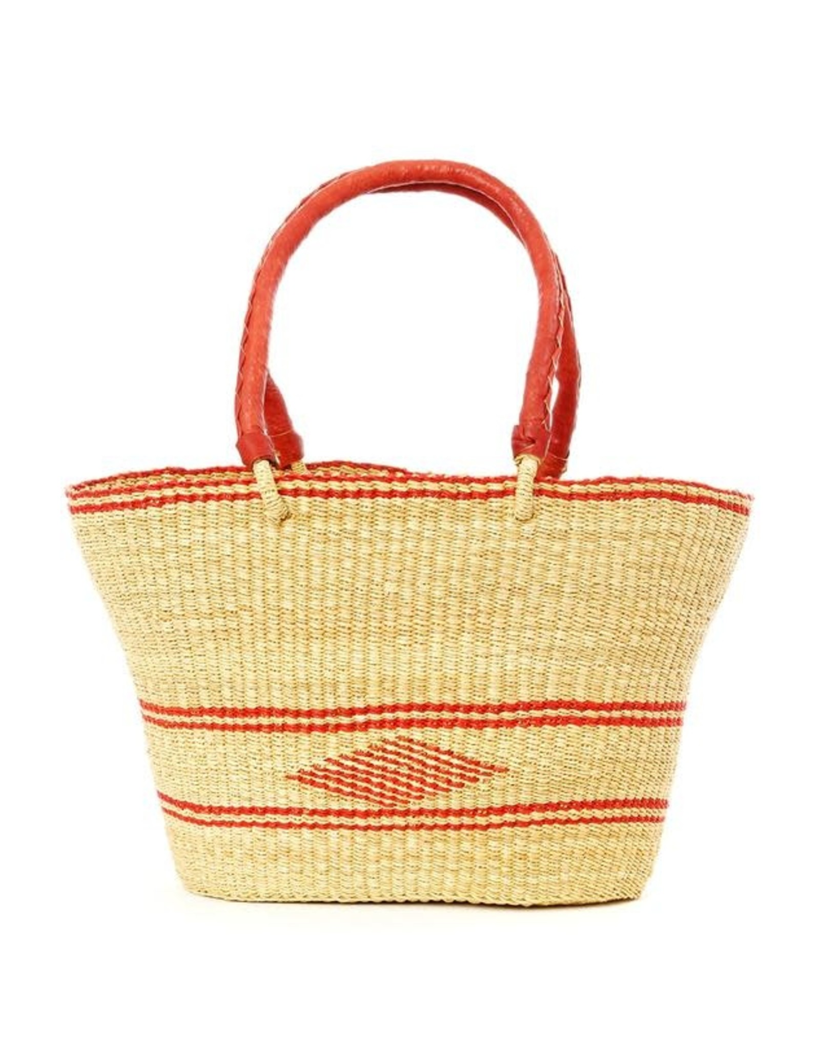 Swahili Wholesale Natural Oval Shopper Bolga Basket, Ghana