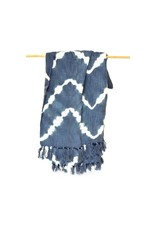 Mira Fair Trade Slate Zigzag Cotton Throw, India