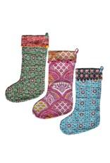 Mira Fair Trade Kantha Stitched Stocking, India