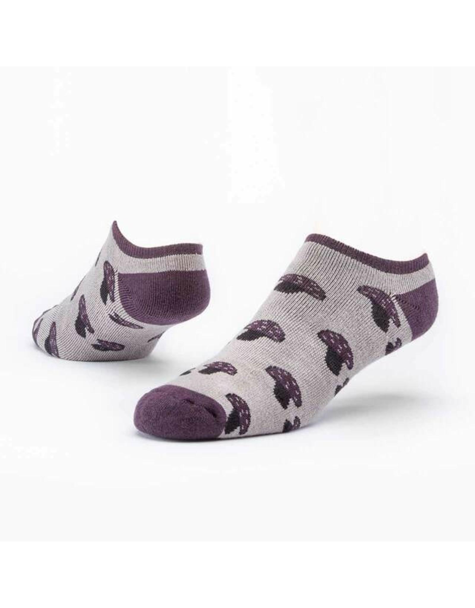 Cotton Footie Socks, Mushroom.