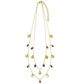 Fair Anita Sprinkled Garnet Necklace, India