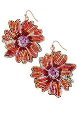 Fair Anita Bold Beaded Flower Earrings, India