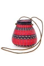 Swahili Wholesale Rambling Rose Lidded Basket Purse, Assorted. Ghana