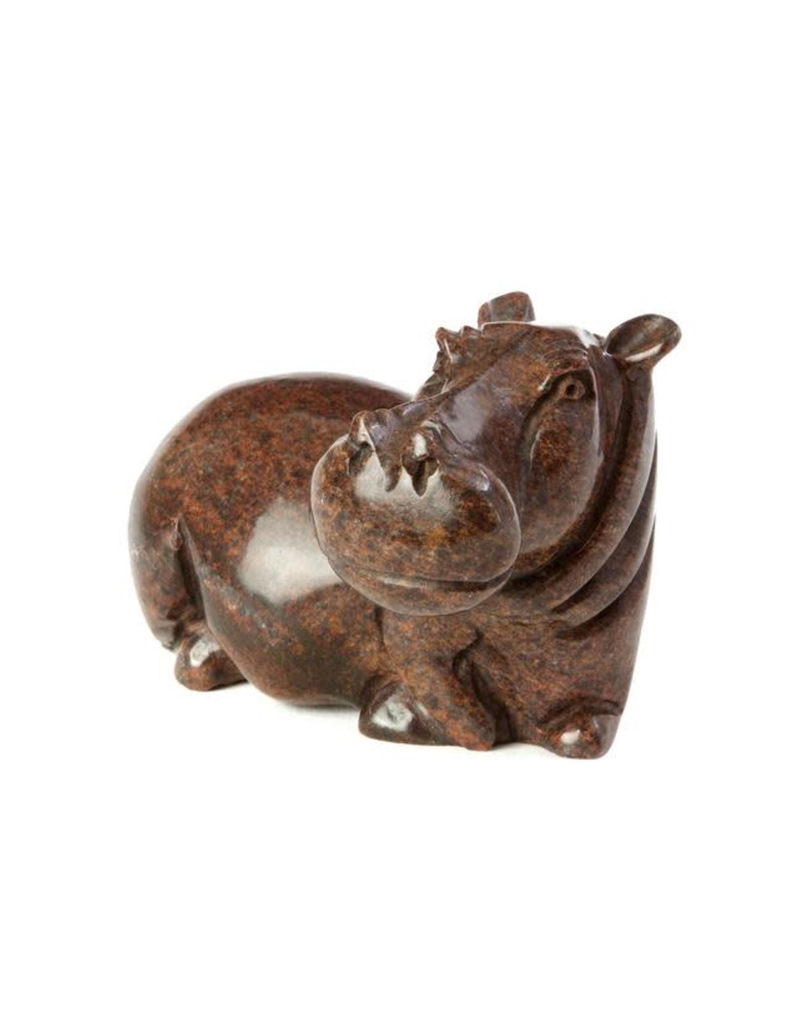 Swahili Wholesale Serpentine Hippo Sculpture, Zimbabwe