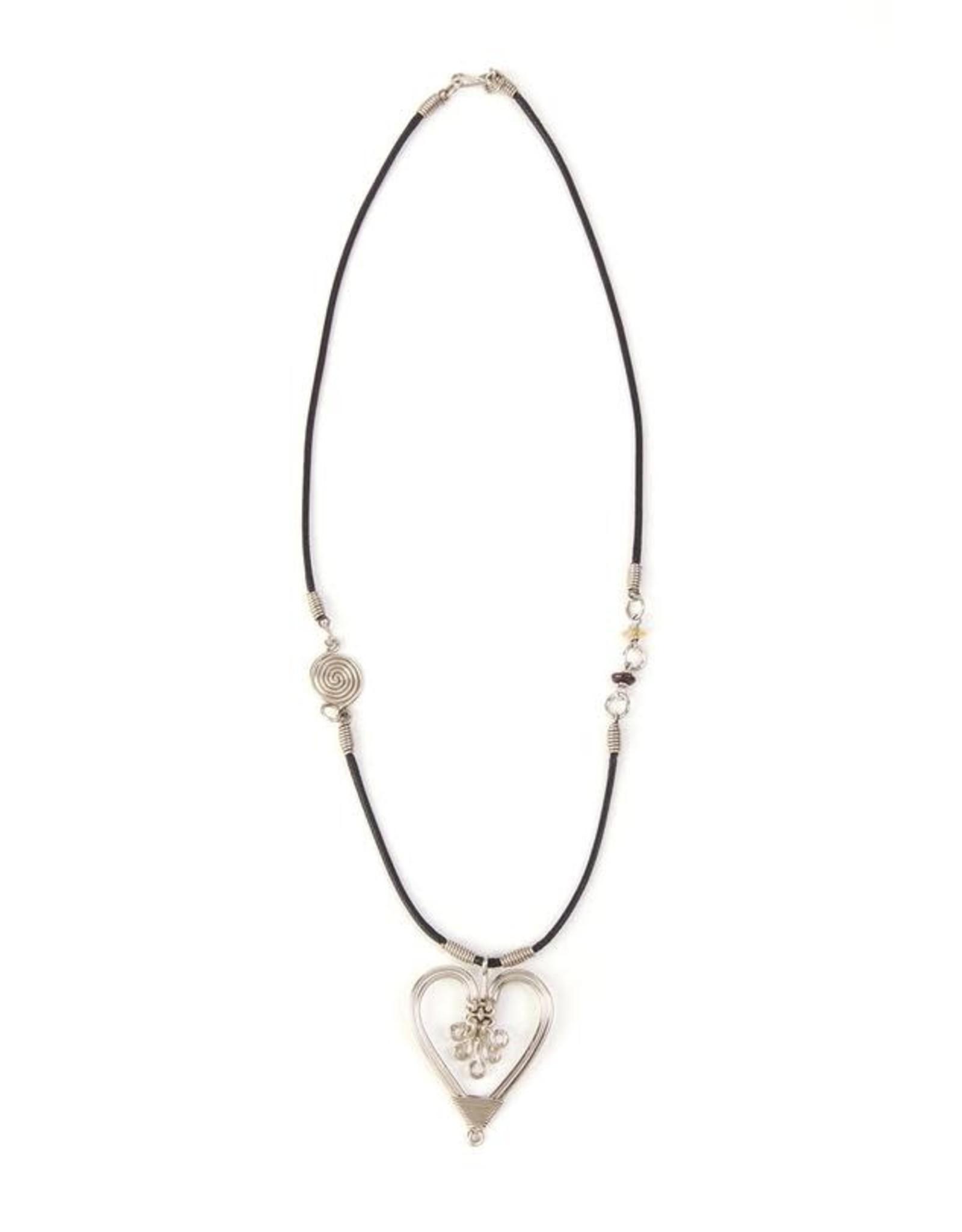 Swahili Wholesale Intricate Heart Necklace, Kenya