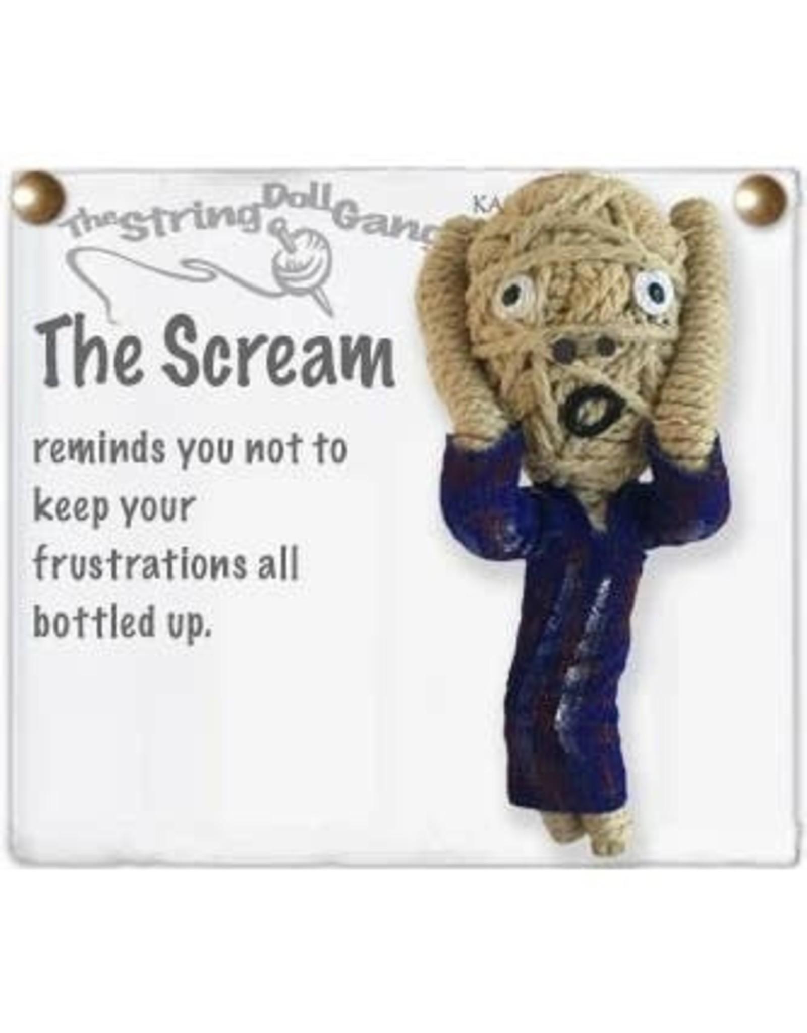 Kamibashi Kamibashi String Doll Keychain, the Scream. Thailand