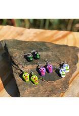 Lucia's Imports Ceramic Skeleton Earrings, Guatemala