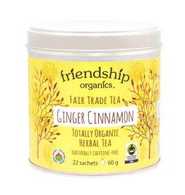 Friendship Organics Friendship Organics Ginger & Cinnamon Herbal Tea Tin