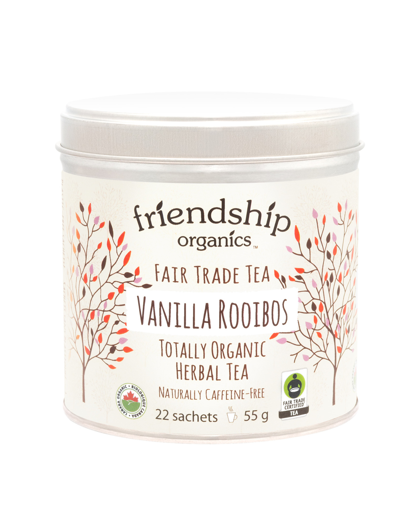 Friendship Organics Friendship Organics Vanilla Rooibos Herbal Tea Tin