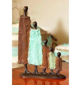 Swahili Wholesale Nomad Family Lost Wax Sculpture, Burkina Faso