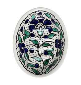 TTV USA Floral Ceramic Soap Dish, Palestine