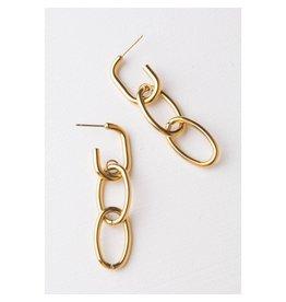 Starfish Project Zita Chain Link Earrings, China