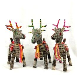 Abrazo Style Folk Art Reindeer, Mexico
