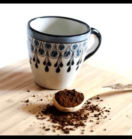 Upavim Crafts Stoneware Coffee Mug, Black & Blue. Guatemala