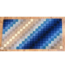 Ten Thousand Villages Shades of Blue Accent Rug