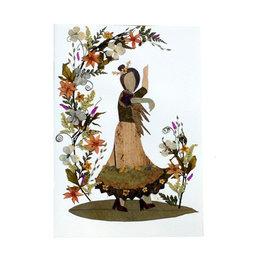 One World Projects Floral Card - Dancer, El Salvador