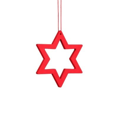 10-2002 Star red Ornament