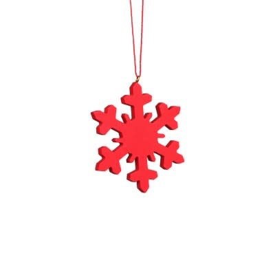 10-2005 Snowflake Red Ornament