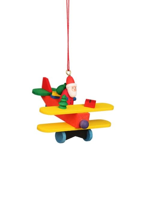 10 0865 Santa On Plane Ornament