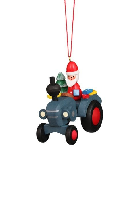 10 0640 Tractor With Santa Claus Ornament