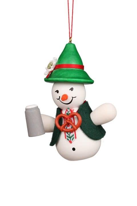 10 0122 Snowman Bavarian Ornament