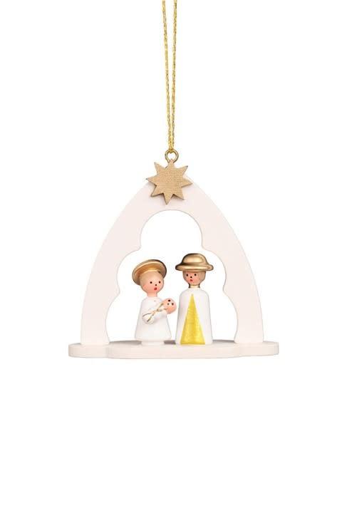 10 0182 The Nativity White Ornament