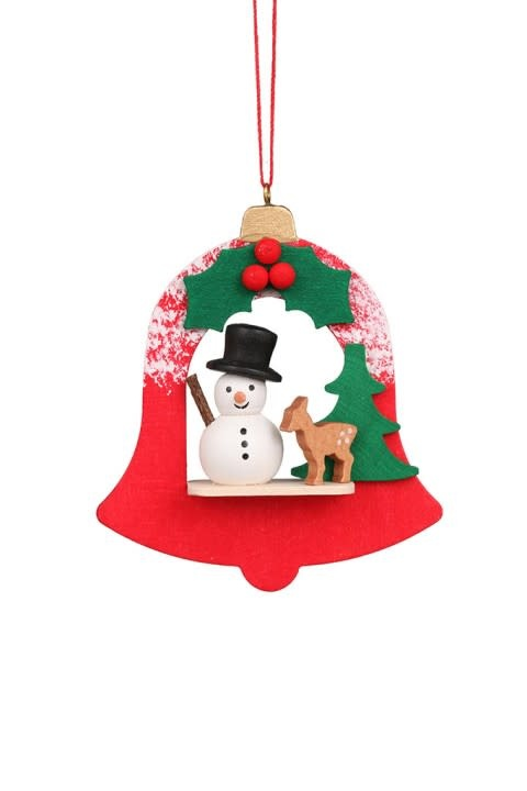 10 0458 Bell With Snowman Ornament