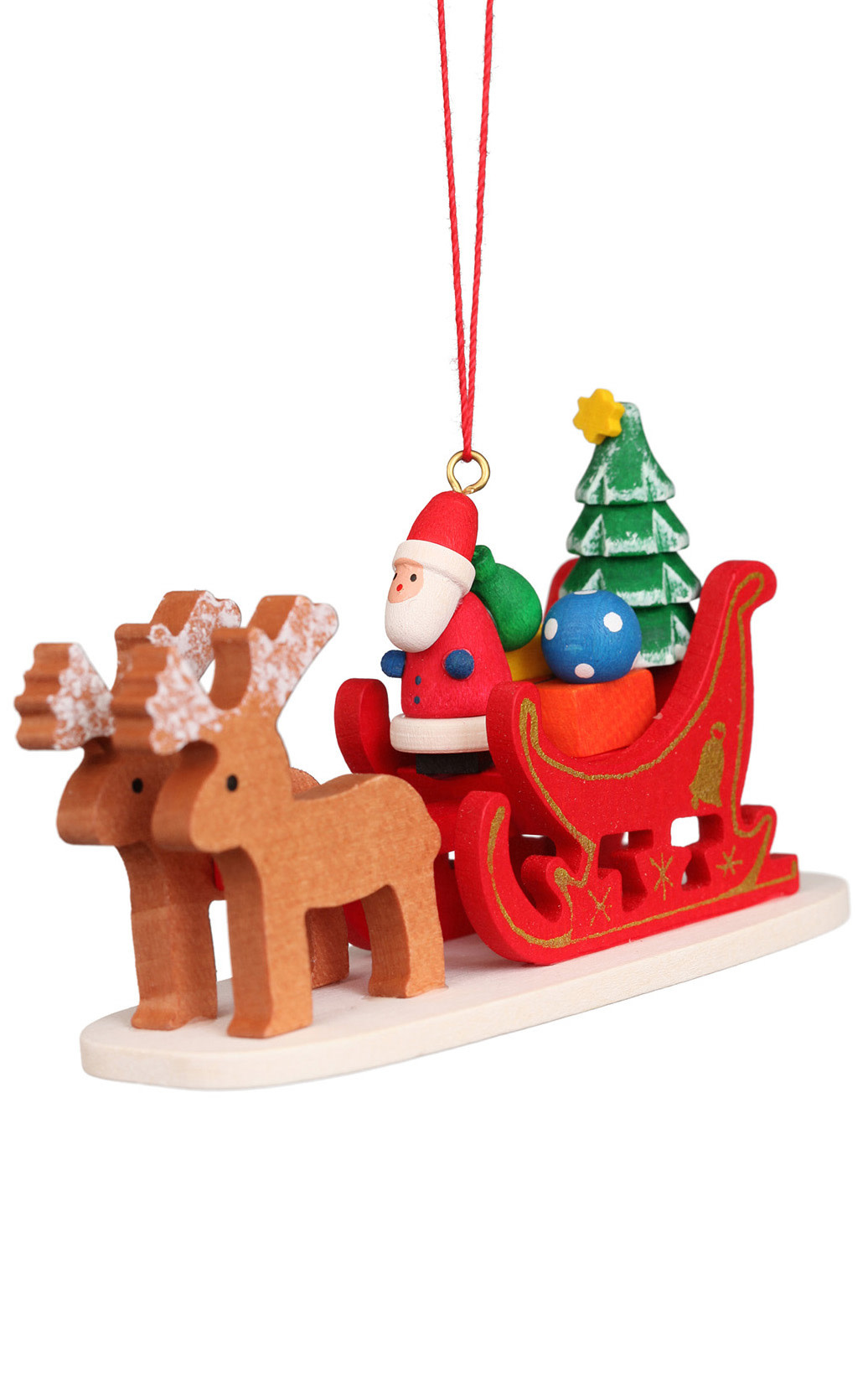 10-0636 Ulbricht Ornament - Santa Claus Sled