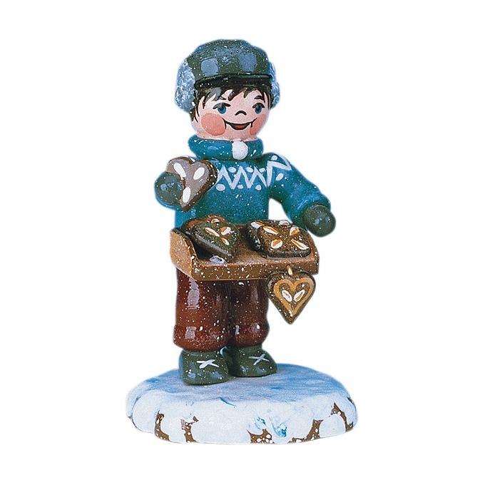 110h0006 Winter Children - Boy Selling Gingerbread
