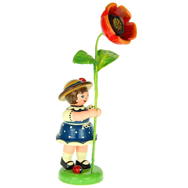 307h0051 Flower Children-Girl with Poppy