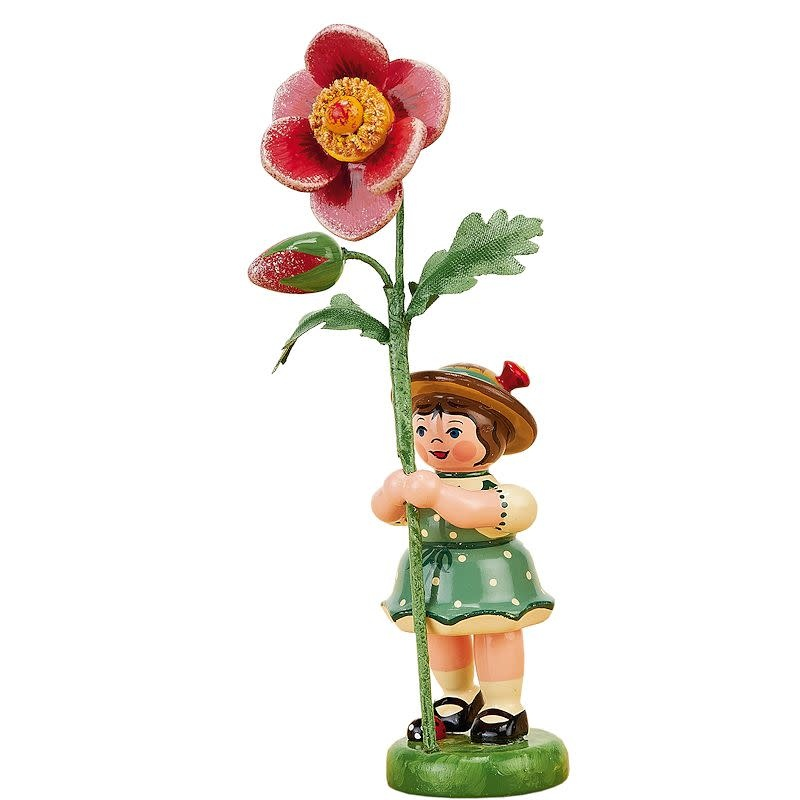 307h0070 Flower Children-Girl with Dog Rose