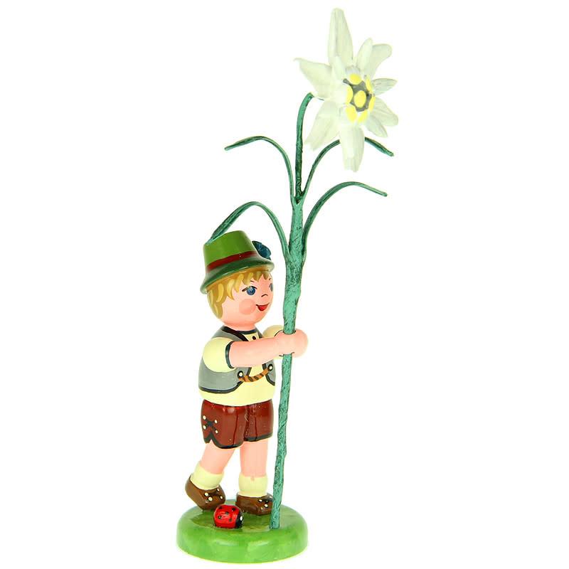 308h0001 Flower Children- Boy with Edelweiss