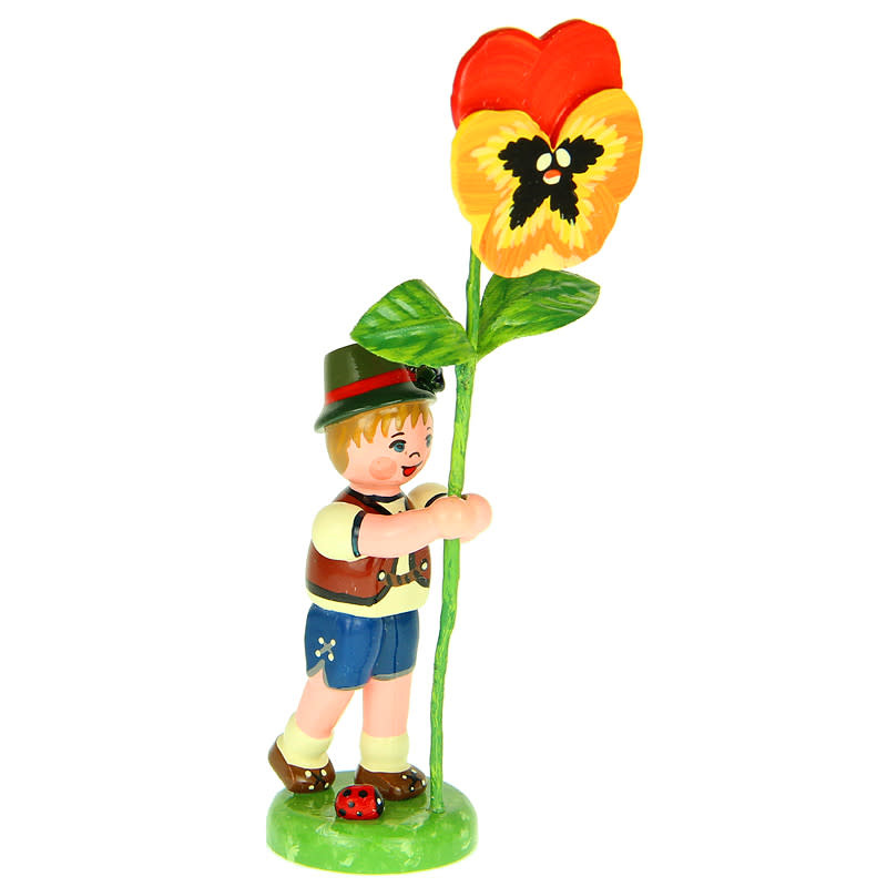 308h0006 Flower Children-Boy with Yellow Pansy