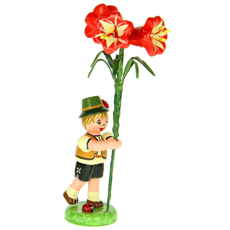 308h0010 FlowerChildren-Boy with Amaryllis