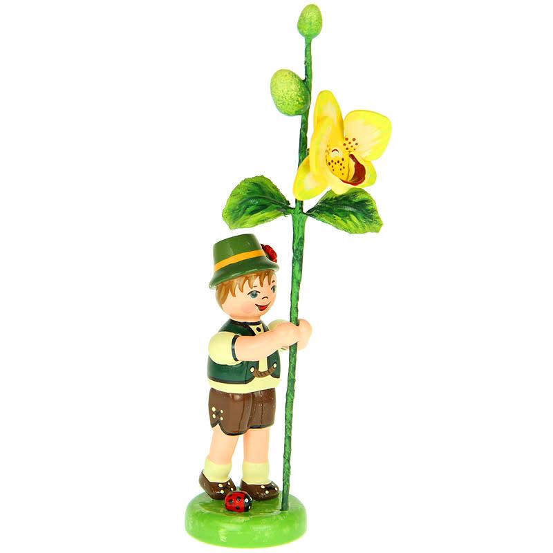 308h0011 Flower Children-Boy with Orchid