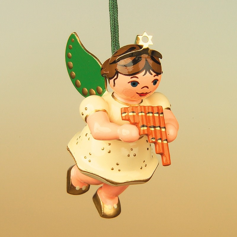 120h0006 Angel with Pan Flute Ornament