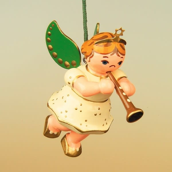 120h0005 Angel with Clarinet Ornament