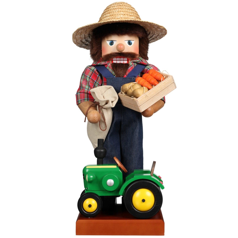 00-0825  Ulbricht Nutcracker - Farmer With Tractor