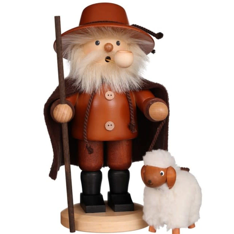01-0123 Ulbricht Smoker-Shepherd with Sheep Natural
